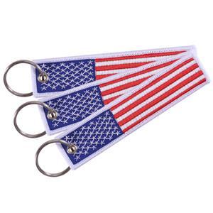 US Flag portachiavi per Moto Scooter automobili e patriottica con portachiavi EDC Bandiera regalo American Mobile Phone Strap
