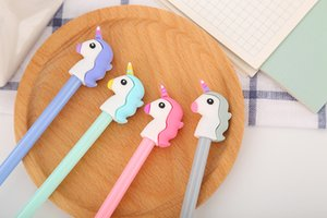 Hot Sale Girl Heart Cartoon Unicorn Student Writing Pen Office Eexamination High Quality Luxury Limited Office Material School Supplies