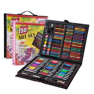 Pintura de Canetas Crianças ferramentas de pintura de presente Caixas-Pintura em Aquarela Art Pen Material Escolar 150Sets Paintbrush