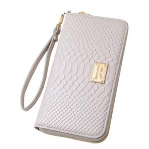 Charm2019 Large-Note Mix Mix Zipper da donna Small Change Long Snake Pattern Carta da Shiling a mano Confezione articoli in magazzino H960
