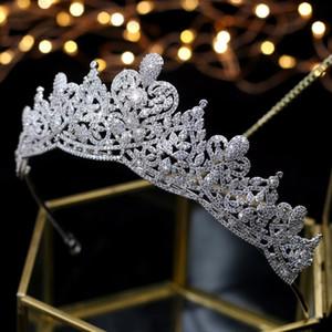 Asnora Coroa de Noiva cristais Wedding nupcial Tiaras Crowns Acessórios para Cabelo nupcial tiara nupcial CJ191226