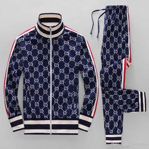 19ss sportswear jaqueta terno moda executando sportswear Medusa dos homens terno de esportes carta impressão Magro camisa com capuz roupas de atletismo