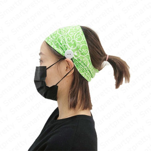Em Stock Women Summer Face Mask Ear Elástico Headband Ladies Fashion Sports Casual With Button Headbands Knitte Hair Headband new e4910