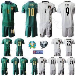 Италия 2020 Kits рубашка Eurocopa 17 Иммобиле Джерси Set Футбол 9 Андреа Белотти 3 Джорджио Кьеллини 21 Андреа Пирло 10 INSIGNE Футбол