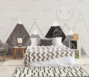 Bacal papel de praed Custom wallpaper Fashion 3d photo photo geometry abstract gray triangles background wallpaper for kids room