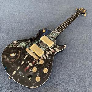 Benutzerdefinierte Fabrik günstiger Preis, Longding Jahrestag PRS E-Gitarre China und Drachen Unterschrift in Nachttisch, Gold Hardware 1709 hig
