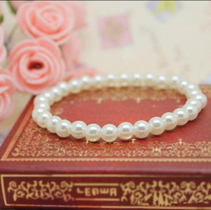 Fashion Bracelet Women White Beige Cheap Artificial Faux Pearl Bracelets Fashion Jewelry Bulk Lots Free Shipping YD0220
