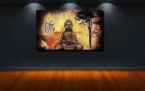 POP SANAT BUDDHA ZEN YOGA RELAX JAPONYA ÖZET MAUER, Saf Handpainted / HD Baskı dini Duvar Sanatı Yağlıboya Tuval Üzerine Çok Boyutları / Çerçeve R1