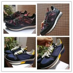 Men New Popular Brand Genuine Leather Running Shoes Luxury Designer Lace Up Sports Flats Shoes Men's Casual Flats Shoes Size 38-45 j0211