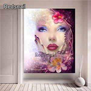 diamond painting new 5d diamond embroidery Makeup Beauty, Nail Beauty cross stitch full square round 3D DIY graffiti decor TT680