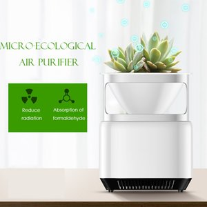 Mini maison Purificateur d'air Supprimer fumée Formaldéhyde PM2,5 Cleaner Air DV12V Home Office Air Fresher Avec Jardinière Plantables
