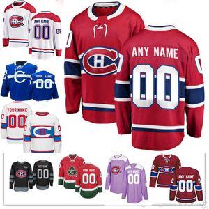 Custom Montreal Canadiens Men Mujeres Mujeres Carey precio Jesperi Kotkaniemi Max Domi Brendan Gallagher Shea Weber Tomas Tatar Hockey Jersey