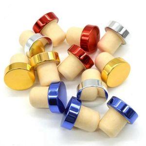 T-Form-Wein-Stopper Silikon-Stecker Cork Flaschenverschluss Rotwein Korken-Flaschen-Stecker-Stab-Werkzeug-Dichtungs-Kappe Corks für Bier RRA2838-6