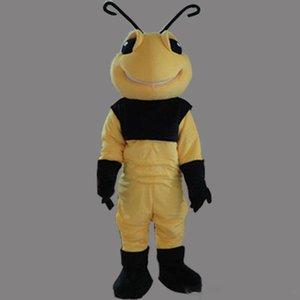 2019 Mascotte di ape calda ape di alta qualità con insetto personalizzato Costume da costume maschile Shool Event Birthday Party Costume Mascot