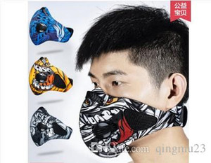 Designer-Good Healt Outdoor Cycling Half Face Mask Dust Windproof Anti Pollen Allergy Activated Carbon Masks Filter Sports Riding Running