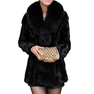 2019 New Luxury Winter Womens Coat Parka Long warm Faux  fur collar Coat Overcoat High end Women Jacket Plus Size S-6XL