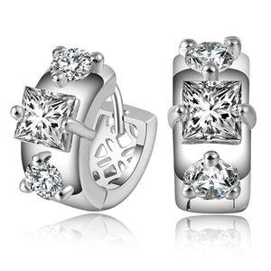 Yeni Taç Düğün Saplama Küpe 2018 Yeni 925 Ayar Gümüş Simüle Diamonds Nişan Güzel Takı Kristal Kulak Yüzük Hediye