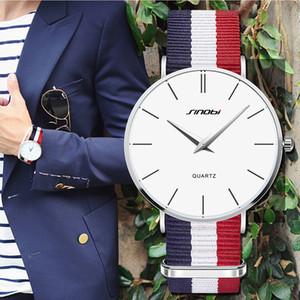 Casual Marca SINOBI Relojes Hombres Mujeres Moda de amante del reloj del deporte clásico de cuarzo reloj de pulsera de nylon Relogio Masculino Femenino