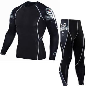 Erkek Spor Trainning Egzersiz Erkekler Spor Hızlı kuruyan Eğitim Spor Giyim Erkek Eşofman Kazak İki Adet Setleri