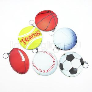 Baseball Münztüte Cartoon Sport Wallet Basketball kreative Taschen-Änderung Geldbeutel Werbegeschenk Parteibevorzugung Kinder keychain Halter FFA1819