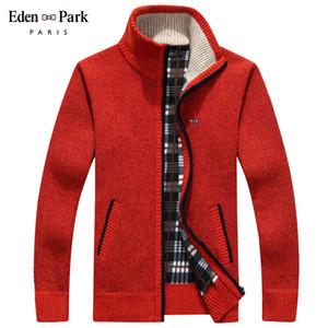 2020 Veste d'hiver Hommes Soft Shell Fleece Feuille Rouge Hommes Fermeture Zipper Brise-vent Black Eden Park Plus Taille m ~ 3xl manteaux mâle T200502