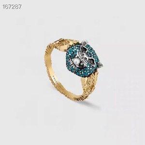 핫 스타일 사자 머리 럭셔리 디자이너와 보석 여성 반지와 디자이너 진주 반지를 판매