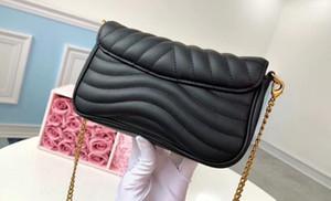 5A top Qualidade M63929 18 centímetros New Wave Cadeia Pochette saco de ombro, couro de bezerro, com saco de poeira + Box, DHL frete grátis
