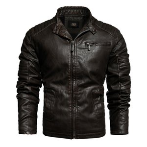 New high quality Fashion Motorcycle Leather Jackets Men PU leather jacket Male Casual Coat jaqueta de couro masculina