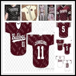 Personalizado Mississippi State Bulldogs NCAA Baseball 15 Jake Mangum 5 Tanner Allen 4 Rowdey sixe S-4XL Sewn Tudo costurado Jersey Atacado