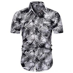 Hawaiian Mens Shirt Summer 2019 Quick Dry Male Blouse Beachwear Printed Short Men's Shirts Men's Clothing Sleeve Shirt Top Blusa Frio Homem