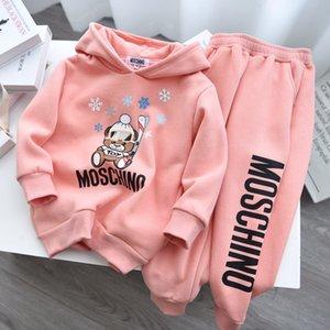 I bambini i vestiti dei bambini delle ragazze dei ragazzi vestito della molla autunno più che coprono insieme Bambini maglione caldo pantaloni due set 121115