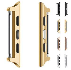 iwatch 밴드 스트랩 커넥터 42mm의 38mm에서 44mm의 40mm 원활한 알루미늄 손목 어댑터를 들어 애플 시계 4 5 스테인레스 스틸 링커 4/3/2/1
