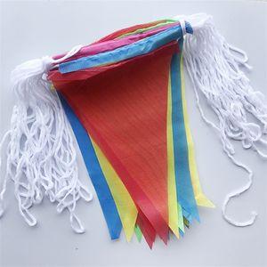 Bandeiras de Fibra de poliéster Triângulo Colorido Bandeira Bunting Festival Celebrações Atividade Decoração Moda Muitos Tamanho 8tt7 UU