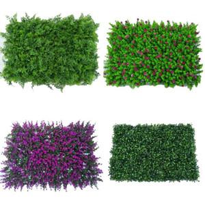 Planta Verde Nova Artificial Lawn DIY para Home Wall Garden Paisagismo Green Plastic Lawn Porta loja Pano de fundo na grama 600 * 400 milímetros