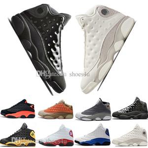Ucuz Yeni 13 13 s Kap Ve Kıyafeti Terracotta Allık Erkek Basketbol Ayakkabı Chicago Siyah Kızılötesi Flints Bred Erkekler Spor Sneakers Tasarımcı Eğitmenler