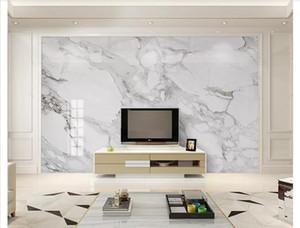 Papel tapiz 3D foto de encargo papel tapiz mural de seda decoración para el hogar HD Jazz Mármol blanco Salón TV Sofá Fondo Pared Papel de parede