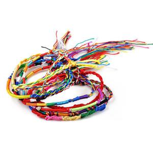 10pcs / Lot 민족 다채로운 로프 끈 가닥 코드 수제 팔찌 아름다운 여성 선물 도매