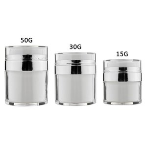 15ml 30ml 50ml Cosmetic Jar Empty Acrylic Cream Cans Vacuum Bottle Airless Refillable Container Press Lotion Pump Bottle