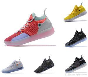 Durant Kevin 11 Баскетбольная обувь дизайнерская обувь Zoom off men KD 11s кроссовки Спортивная обувь белый красный люкс KD EP Elite Низкие спортивные кроссовки
