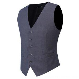 Plus Size S7XL Fashion Slim Fit Sleeveless Men's Outerwear & Coats Men's Clothing Mens Wedding Waistcoats 9 Colors Solid Waistcoat Men Dress