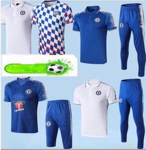 POLO da calcio kit 2019 + uniforme da camicia 3/4 migliore qualità personalizza camicie da calcio 19/20 Tuta da allenamento Dimen POLO 3/4