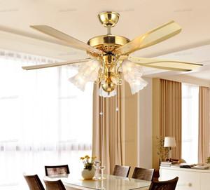 Işıklar Çekme Halat Anahtarı ventilador Yemek Odası Yatak Odası Tavan Işık Fan E27 Nulb De Techo LLFA ile Vintage Amerikan Tavan Fanları