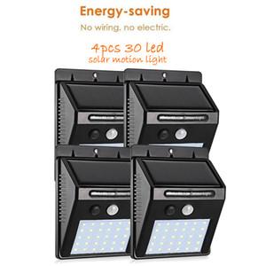 4 pcs 30 LEDs Luz Solar Sensor de Movimento 3 modos Ao Ar Livre Jardim Luz Decoração Cerca Escada Caminho Quintal Segurança Lâmpada Solar deck luz Solar
