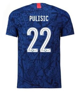 Top Avec Champion Patch 19-20 22 PULISIC personnalisé Soccer Jersey, personnalisé 7 10 Willian 9 Kanté Abraham 8 Bakley usure fan shop en ligne de yakuda