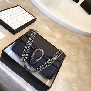 2019 nouveau sac sac diagonale sac à main de luxe rétro en cuir de litchi de haute qualité de design de haute qualité de l'épaule en cuir d'origine