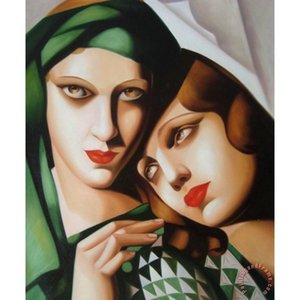 고품질 Tamara de lempicka 그림 그린 Turban 현대 예술 손으로 그린