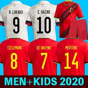 Belgium 2020 Bélgica visitante camisetas de fútbol De Bruyne LUKAKU 2020 euro cup camiseta de fútbol PELIGRO BATSHUAYI Camiseta futbol KOMPANY DEMBELE maillot
