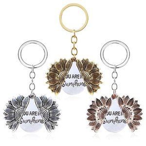 Fashion You Are My Sunshine Best Friends Best Bitches Sunflower Keychain pendant for Women