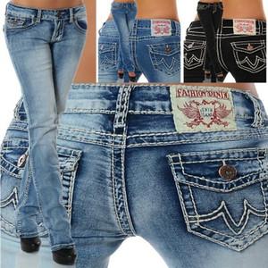 Kadın Gerçek Kot Yüksek Kaliteli Pantolon Kot Tasarımcı Koyu Düz renk Kadınlar Için Düz tr Jean Pantolon Ücretsiz Kargo