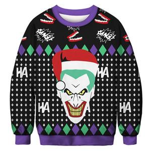 3D Christmas Jumper Snowman Deer New Stanta Claus XMASPatterned Pullover Hässliche Weihnachtss Pullover Tops Lustige Männer Frauen Pullover
